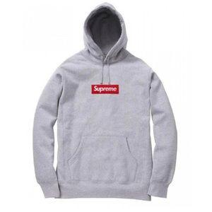 Real gray supreme hoodie